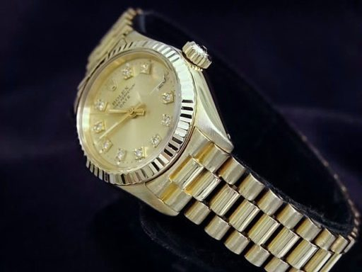 Rolex Yellow Gold Date President Diamond 6917 Champagne-3