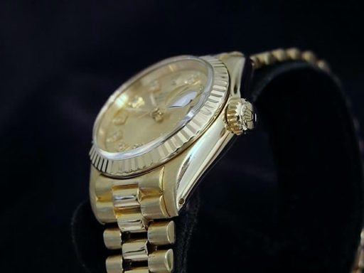 Rolex Yellow Gold Date President Diamond 6917 Champagne-2
