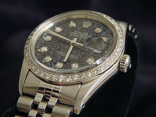 Rolex Stainless Steel Datejust 16030 Blue Diamond-3