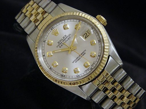 Rolex Two-Tone Datejust 16013 Silver Diamond-4