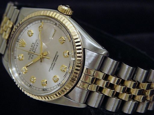 Rolex Two-Tone Datejust 16013 Silver Diamond-2