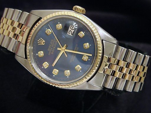 Rolex Two-Tone Datejust 16013 Blue Diamond-3