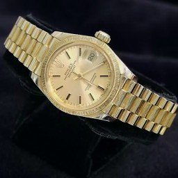 Ladies Rolex 18K Yellow Gold Datejust President Bark Champagne  6927 (SKU 5280862NMT)