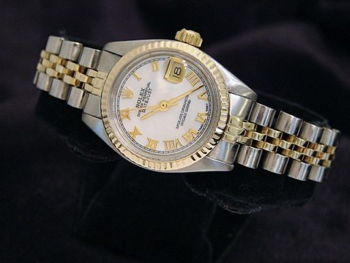 Rolex Two-Tone Datejust 6917 White MOP Roman-4