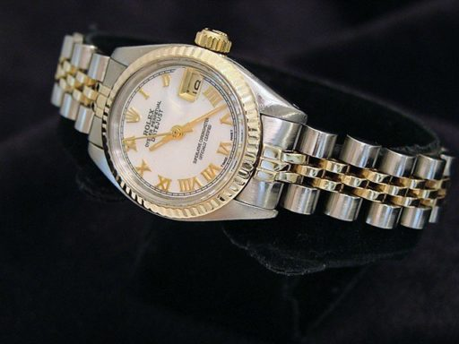 Rolex Two-Tone Datejust 6917 White MOP Roman-3