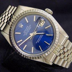 Mens Rolex Stainless Steel Datejust Blue  1603