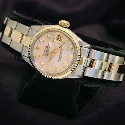 Ladies Rolex Two-Tone 14K/SS Datejust Pink MOP Diamond 6917