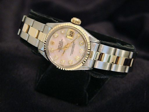 Rolex Two-Tone Datejust 6917 Pink MOP Diamond