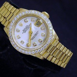Ladies Rolex 18K Yellow Gold Datejust President White Diamond 6917 (SKU 5665776AMT)