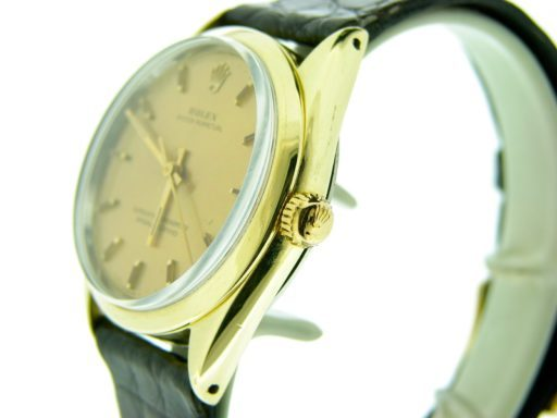 Rolex Gold Shell Oyster Perpetual 1024 Champagne-5