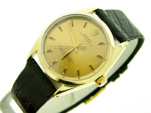 Rolex Gold Shell Oyster Perpetual 1024 Champagne-7