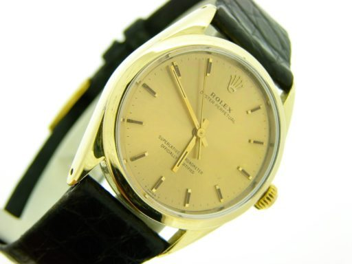 Rolex Gold Shell Oyster Perpetual 1024 Champagne-6