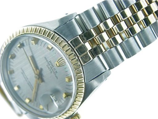 Rolex Two-Tone Date 1505 Gray, Slate -4