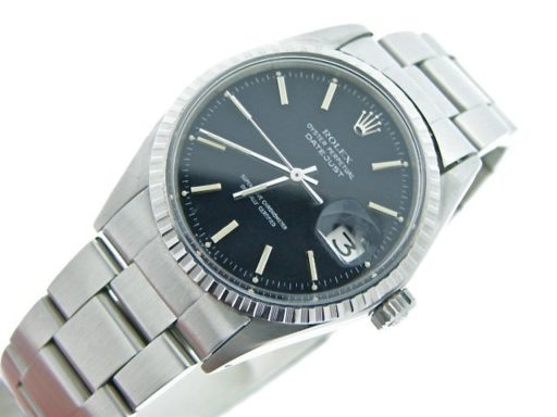 Rolex Stainless Steel Datejust 1603 Black -7