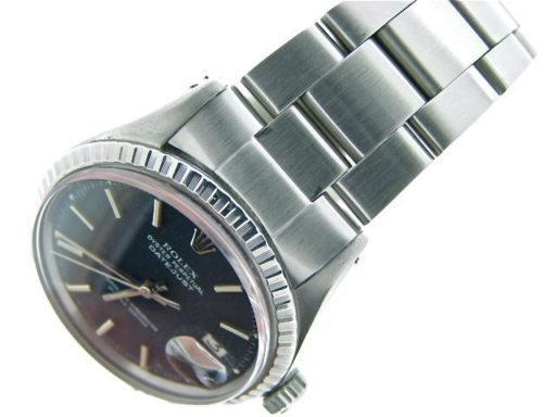 Rolex Stainless Steel Datejust 1603 Black -4