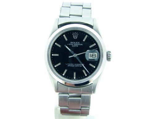 Rolex Stainless Steel Date 1500 Black -6
