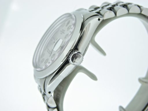 Rolex Stainless Steel Date 1500 Silver Diamond-3
