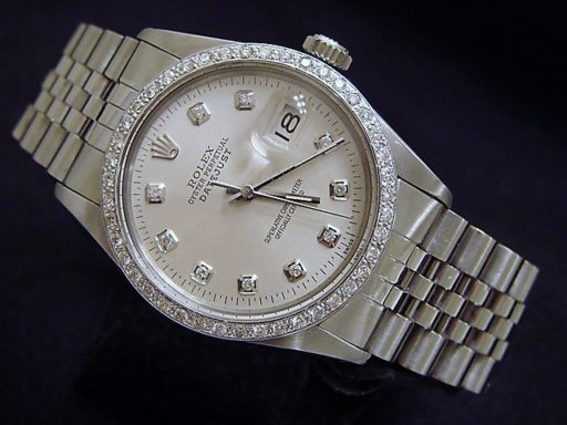 Rolex Stainless Steel Datejust 16030 Silver Diamond-3
