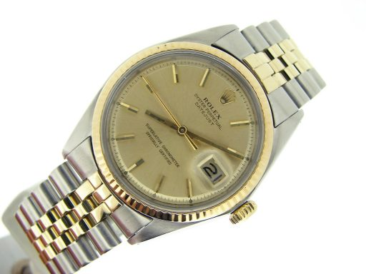 Rolex Two-Tone Datejust 1601 Champagne -5