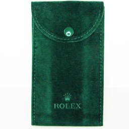 Genuine Rolex Dark Green Velvet Watch (Timepiece) Pouch Bag