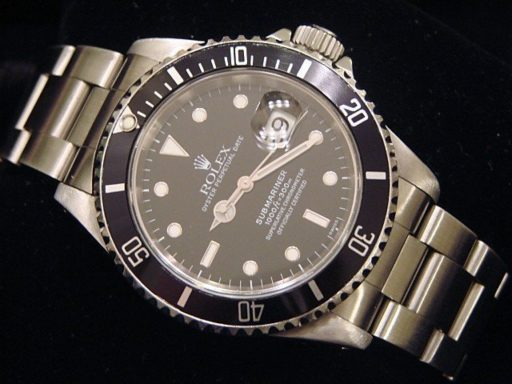Rolex Stainless Steel Submariner 16610 Black -3