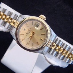 Ladies Rolex Two-Tone 14K/SS Date Champagne  6917 (SKU 370MT)