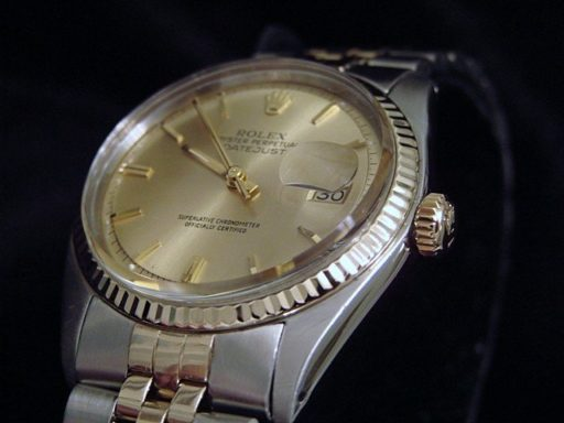 Rolex Two-Tone Datejust 1601 Champagne -3