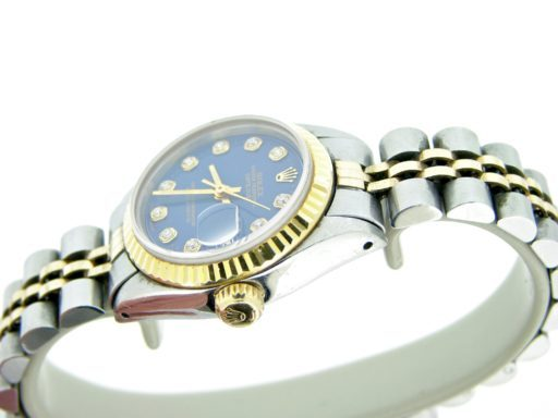 Rolex Two-Tone Datejust 6917 Blue Diamond-3