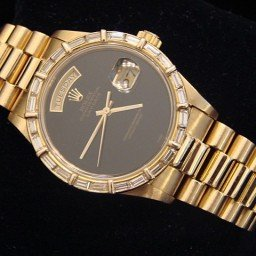 Mens Rolex 18K Gold Day-Date President Black Onyx Diamond 18038