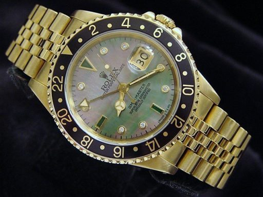Rolex 18K Yellow Gold GMT-Master 16758 Diamond-8