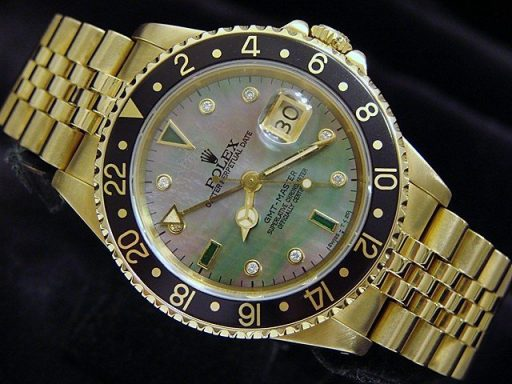 Rolex 18K Yellow Gold GMT-Master 16758 Diamond-7
