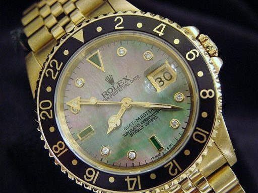 Rolex 18K Yellow Gold GMT-Master 16758 Diamond-5
