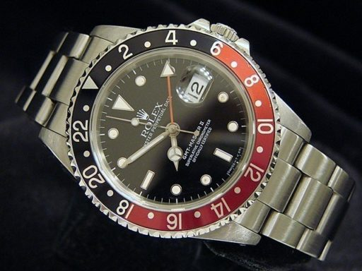 Rolex Stainless Steel GMT Master II 16710 Black & Red Coke -3