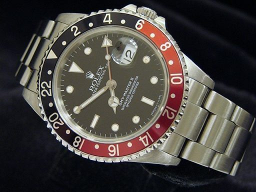 Rolex Stainless Steel GMT Master II 16710 Black & Red Coke -4