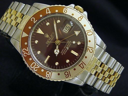 Rolex Two-Tone GMT-Master 16753 Brown Rootbeer Nipple-7