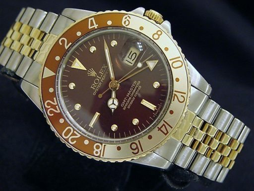 Rolex Two-Tone GMT-Master 16753 Brown Rootbeer Nipple-6