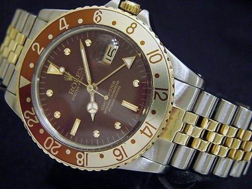 Rolex Two-Tone GMT-Master 16753 Brown Rootbeer Nipple-5