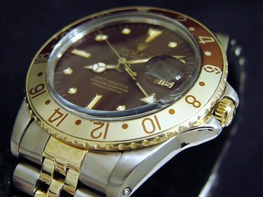 Rolex Two-Tone GMT-Master 16753 Brown Rootbeer Nipple-4