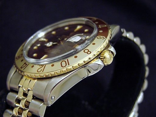 Rolex Two-Tone GMT-Master 16753 Brown Rootbeer Nipple-3