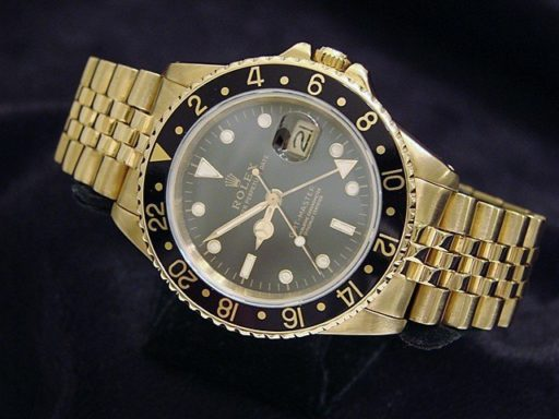 Rolex 18K Yellow Gold GMT-Master 16758 Black -8
