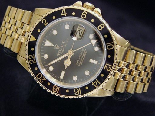 Rolex 18K Yellow Gold GMT-Master 16758 Black -7