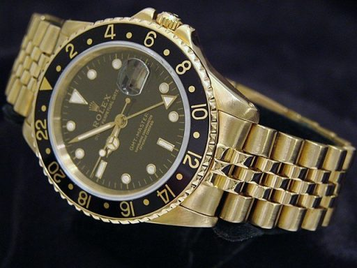 Rolex 18K Yellow Gold GMT-Master 16758 Black -6