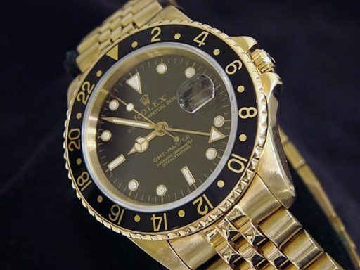 Rolex 18K Yellow Gold GMT-Master 16758 Black -5