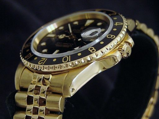 Rolex 18K Yellow Gold GMT-Master 16758 Black -3