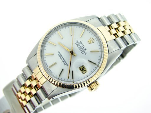 Rolex Two-Tone Datejust 16013 White -5