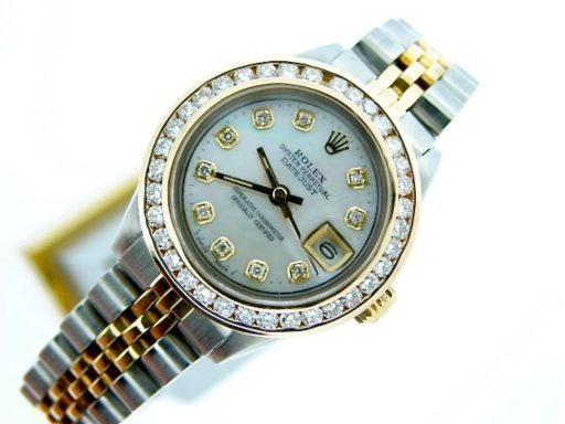 Rolex Two-Tone Datejust 6917 White MOP Diamond-6
