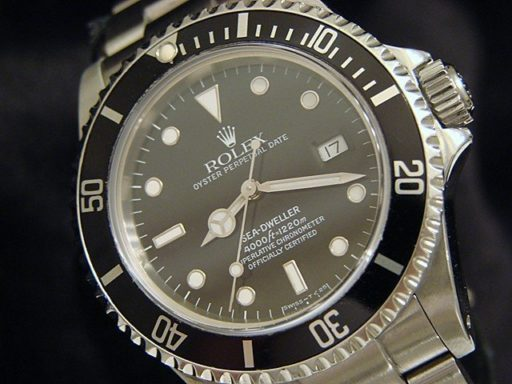 Rolex Stainless Steel Sea-Dweller 16600 Black -4
