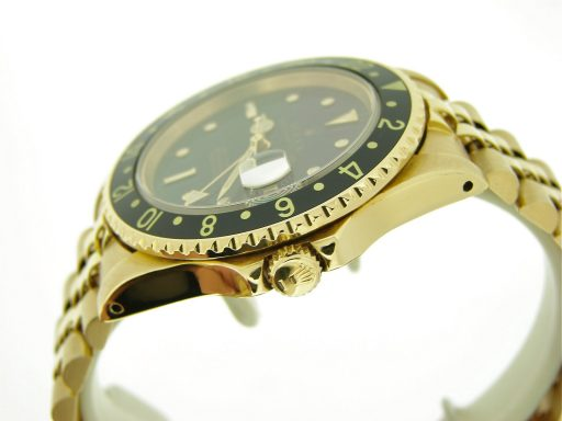 Rolex 18K Yellow Gold GMT-Master 16758 Black Nipple-3