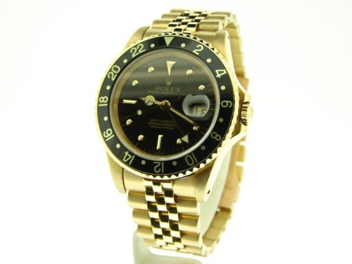 Rolex 18K Yellow Gold GMT-Master 16758 Black Nipple-6