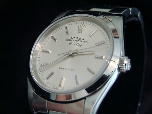 Rolex Stainless Steel Air-King 14000 Silver-4